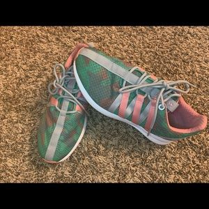 Pink Green and Grey Adidas